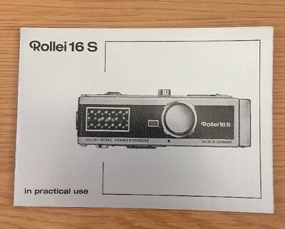 Rollei 16 S In Practical Use Manual, Instruction Book Genuine Original