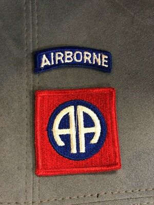 Authentic Vintage Original Army Vintage 82nd Airborne AA Shoulder w/  Glow Patch