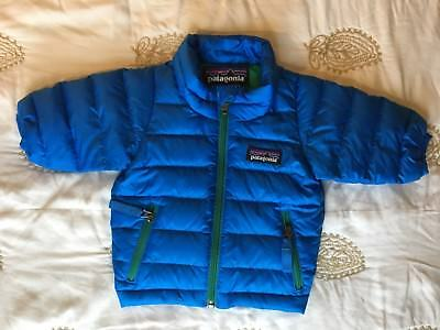 Patagonia Infant Baby New Born-3M Jacket Puffer Down Sweater Royal Blue