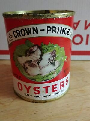 Vintage Crown Prince Oyster Tin Can