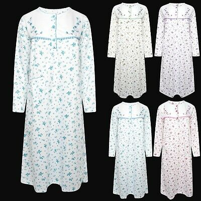 Cotton (Super Soft) Fleece Brushed Back Nightdress Nightwear*Extra Warm*