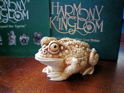 Harmony Kingdom Princely Thoughts UK Made Box Figurine Frog Ret.6/1/1996