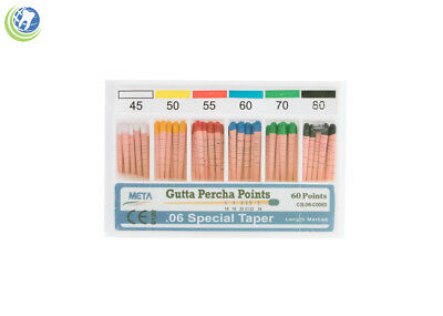 Gutta Percha Points .06 Special Taper #45-80 60/Box Vial Endodontic Obturation