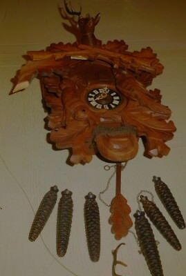 vintage German black forest 8 day cuckoo clock by regula parts project