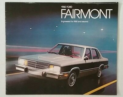 Vintage 1980 Ford Fairmont 20 Page Car Auto Sales Brochure Free Shipping