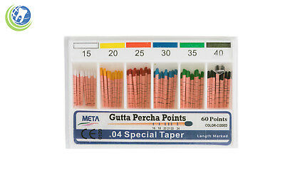 Gutta Percha Points .04 Special Taper #15-40 60/Box Vial Endodontic Obturation