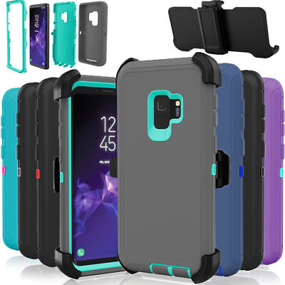 Defender Shockproof Case Cover for Samsung Galaxy S9 (Fits Otterbox Belt Clip)