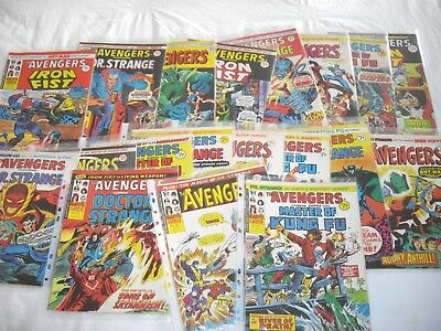 The avengers comic collection 1974 - 1975 numbers 51 - 69