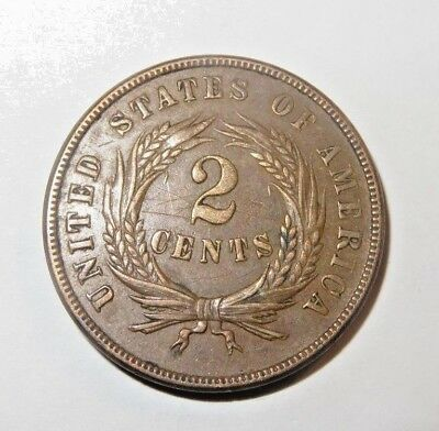 1869 2 Two Cent Piece Coin-BEAUTIFUL Condition!!