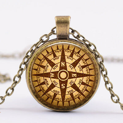 Steampunk Compass pendant, compass necklace steampunk necklace Bronze