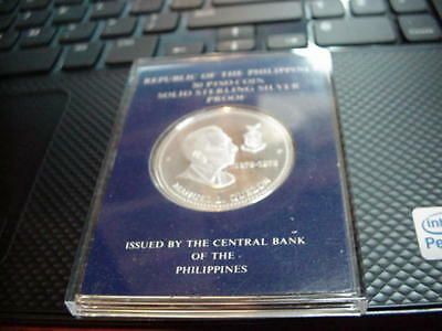 Philippines 1978 50 Piso Coin Proof in Original Franklin Mint Holder/Case.