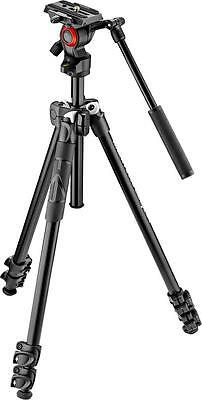 Open-Box Excellent: Manfrotto - 290 Tripod with Fluid Video Head - Black