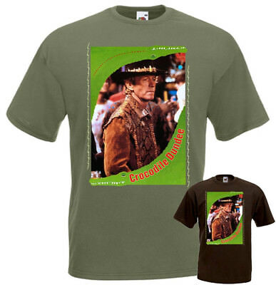 Crocodile Dundee part 1 v2 T-shirt brown olive poster all sizes S...5XL