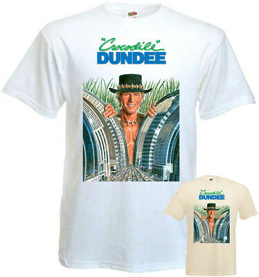 Crocodile Dundee part 1 v4 T-shirt white natural poster all sizes S...5XL