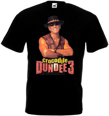 Crocodile Dundee part 3 v3 T-shirt black poster all sizes S...5XL