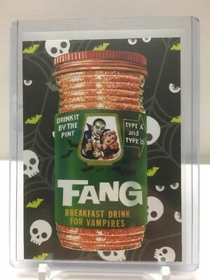 2018 Topps Wacky Packages - Go To The Movies : HORROR FILM sticker SP #2 Fang