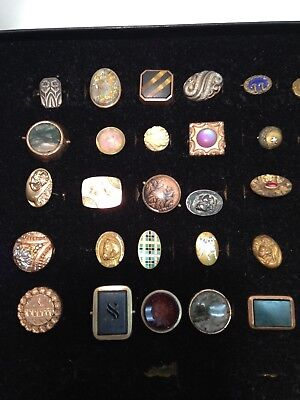 Single Cufflink, Cuff Button Collection, Spanning 19th-20th Century, LOWER PRICE