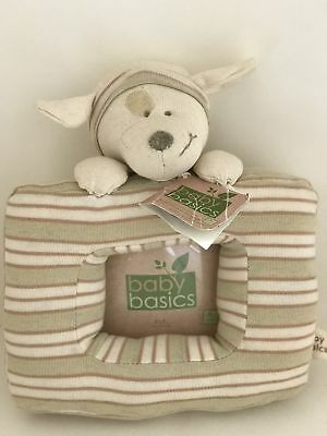 Baby Basics Soft Picture Frame, Nursery Picture Frame With Plush Dog Eco Frame