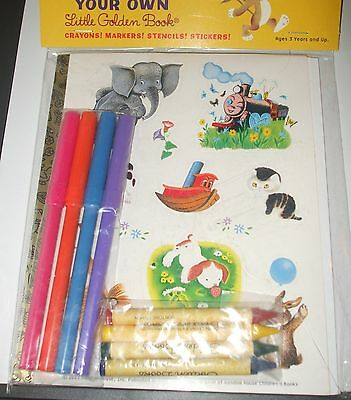 Create Your Own~Classic~Little Golden Book~POKY PUPPY~Crayons~Sticker Sheet~RARE