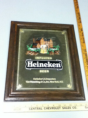 Heineken beer sign bar signs mirrors 1 mirror imported Holland vintage old WW5