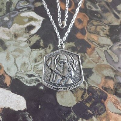 Mans Best Friend 1 Purebred Labeador Retriever Necklace Pewter Pendant New.