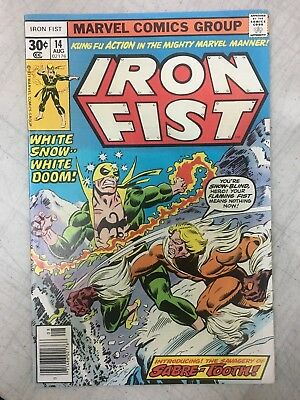 MARVEL IRON FIST #14 - 1st SABRE-TOOTH! 1977 VERY SHARP COPY