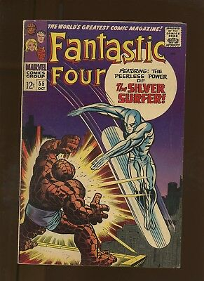 Fantastic Four 55 VG/FN 5.0 *1 Book* When Strikes the Silver Surfer! Lee & Kirby
