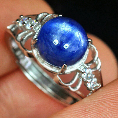 11.1CT 100% Natural 18K Gold Plated Brazilian Blue Kyanite Ring UDKN103