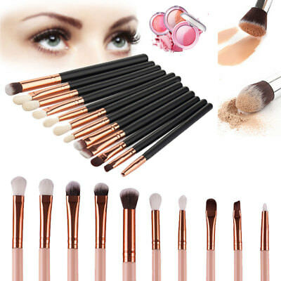 12pcs Eyeshadow/Concealer/Eyeliner/Blending/Eyebrow Kabuki Eye Lip Brush Set
