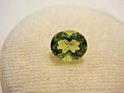 Peridot Oval Cut Gemstone 6 mm x 5 mm 0.80 Carat Natural Green Gem