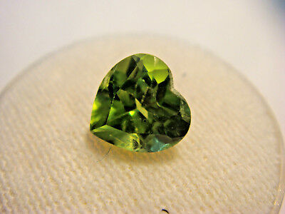 Peridot Heart Cut 8 mm x 8 mm Gemstone 1.80 Carats Natural Gem