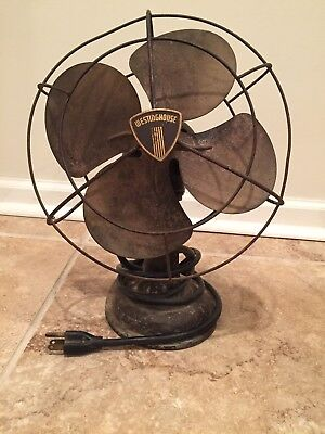 Antique Vintage Westinghouse Oscillating Fan Style 1137817 Electric 4 Blade