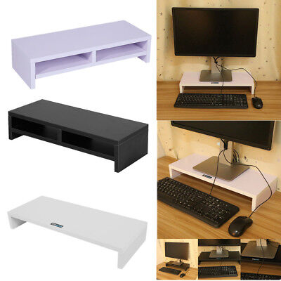 Base Para Monitor TV PC Laptop Computadora Pantalla Vertical Soporte De Madera
