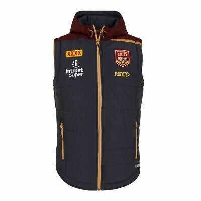 QLD Maroons Origin 2018 ISC Players Padded Vest Sizes S-3XL!