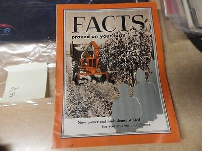 Vintage Antique Allis Chalmers Tractor Catatlog Facts Proved On Your Farm