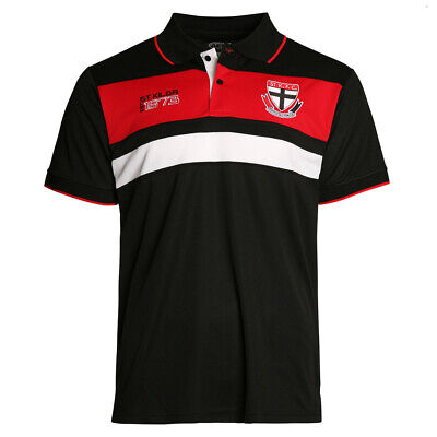 St Kilda Saints AFL 2018 Winter Premium Polo Shirt Size S-5XL! BNWT's!
