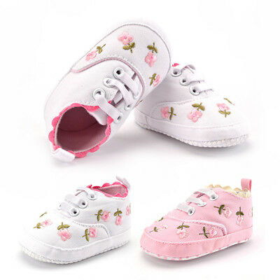 Infant Baby Girl Shoes Newborn Soft Sole Sneaker Cotton Crib Shoes For 0-18month