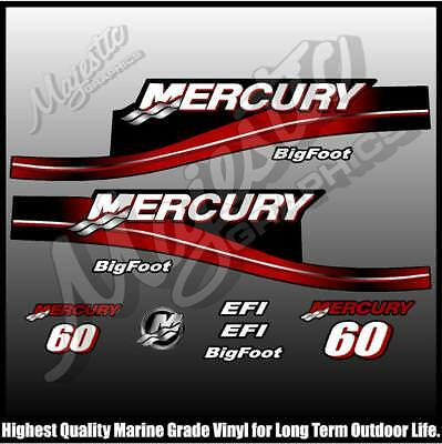 MERCURY 60 hp - BIGFOOT - DECAL KIT - OUTBOARD DECALS