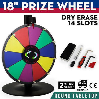 "18"" Round Tabletop Color Prize Wheel Spinnig Game PVC Foam Mark Pen TradeShow"
