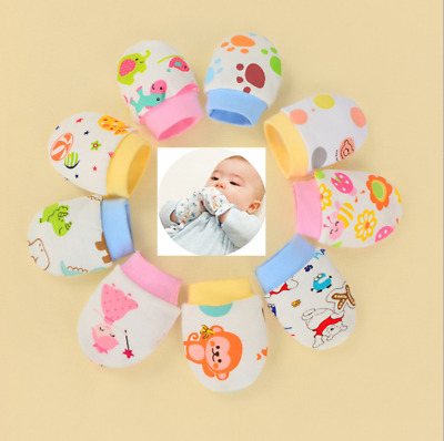 2PCS Anti Scratch Mittens Newborn Baby Girls/Boys Glove Infant Cotton Handguard