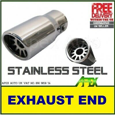 STAINLESS STEEL Exhaust Tip Pipe Universal Ø 35-50mm High Quality and EASY FIT