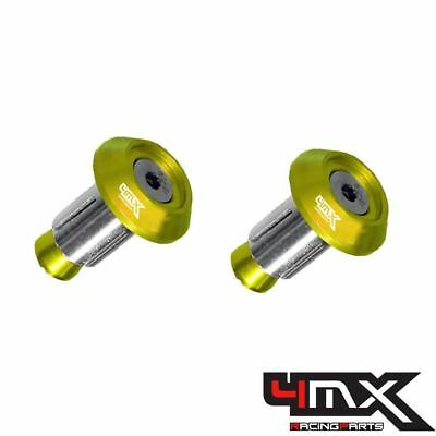 4MX Alloy Gold Bar End Caps fits Husqvarna 250 FC 2016-2017