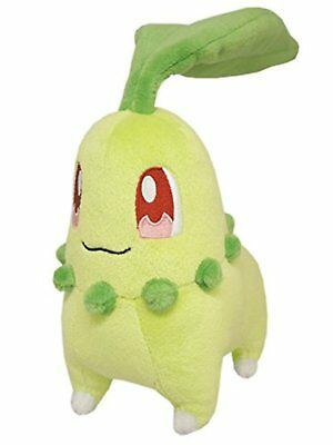 Sanei Pokemon All Star Collection PP40 Chikorita 6  Stuffed Plush F/S w/Track#