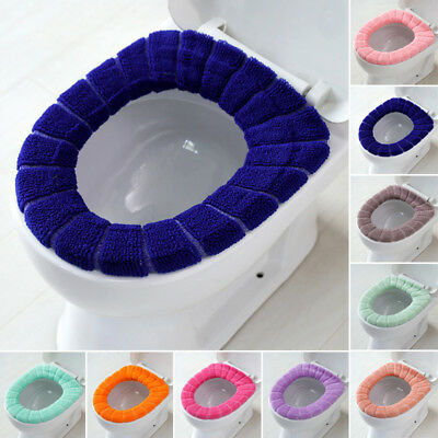 Washable Bathroom Toilet Warmer Soft Cushion Pad Closestool Seat Lid Cover Mat
