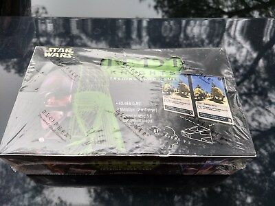 SEALED BOOSTER BOX Star Wars Jedi Knights TCG/CCG Base Set Decipher OOP Limited