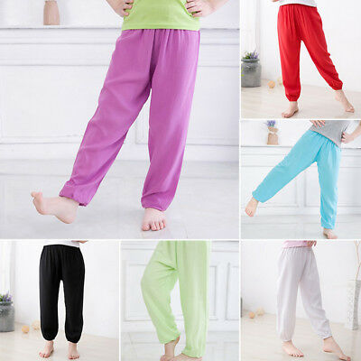 For 2-8year Girls Boy Harem Trousers Kids Costume Dance Pants Bloomers 6 Colours
