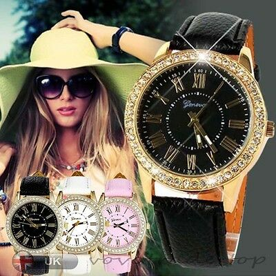 Luxury Fashion Women Watch Stainless Steel Analog Leather Casual Wrist Watches