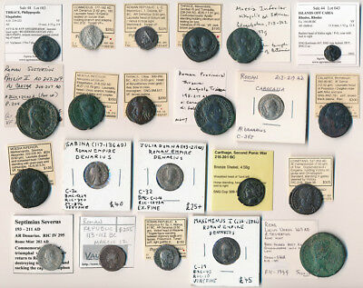 22 Ancient Coins ### Interesting/valuable Lot With Attributions ###  No Reserve
