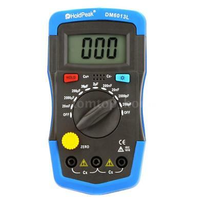 DM6013L Digital Capacitance Meter Capacitor W/ LCD Backlight & Data Hold A2C9