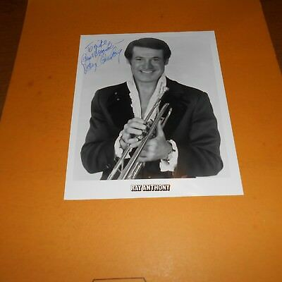 Ray Anthony is an American bandleader, trumpeter, songwriter Hand Signed Photo